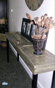 Closet door side table