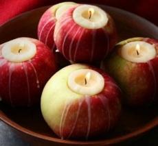apple candleholders