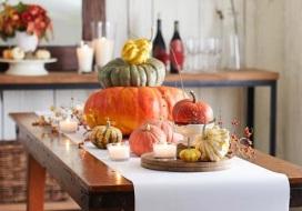 pumpkin and gourds centerpiece