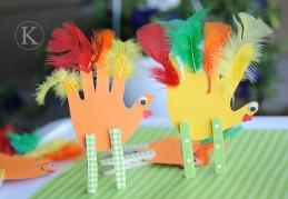 Hand cutout turkeys