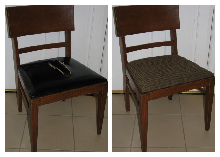 Try Something Tuesday Reupholster A Chair The Before After DIY Blog