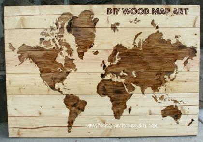 diy wood map art